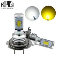 erros de led da lâmpada h7 venda por atacado-Bulb 2x H7 Luz Auto Led Fog Car Motor Truck Canbus livre de erros Lâmpadas LED luzes de condução DRL Lamp 12V 24V para carros brancos Canbus