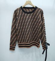 moda jacquard suéter venda por atacado-Cartas Mulheres Jacquard Camisolas 2019 Outono Inverno Moda Mohair alta Neck Painéis Long Sleeve Cardigan Casacos Casacos