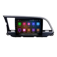 радио bluetooth hyundai bluetooth оптовых-Android 9.0 HD сенсорный экран 9-дюймовый автомобильный GPS-навигатор для 2016 года Hyundai Elantra с поддержкой Bluetooth AUX Mirror Link OBD2 DAB + автомобильный DVD