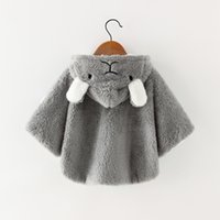 Wholesale outerwear infant for sale - Group buy Baby Toddler Infant Girls Clothes Cute Fleece Fur Winter Warm Coat Outerwear Cloak Jacket Kids Ear Coat Clothes shawl New Style