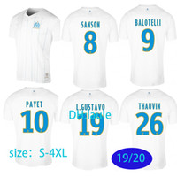 büyük boy formalar toptan satış-BÜYÜK 3XL 4XL Olympique Marseille Futbol forması 2019 2020 OM Maillot de foot BALOTELLI PAYET L GUSTAVO 19 20 Marseille THAUVIN üstleri