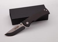 cuchillos de bolsillo de alto carbono al por mayor-Manija alta calidad de encargo Redencion plegable de bolsillo cuchillo 8Cr13MOV fibra de carbono táctico de la supervivencia Cuchillos que acampan al aire libre Herramientas