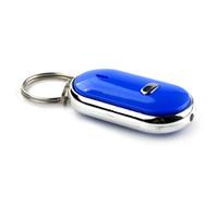 llavero buscador de sonido al por mayor-Smart Key Finder Sensores de silbido antipérdida Rastreador de llaveros Sonido LED con localizador de silbato Encuentra a los niños Buscador de llaveros perdidos