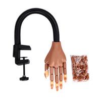 güzellik uygulamaları toptan satış-Tırnak Sanat Uygulama El Ayarlanabilir Sahte Insan Parmakları Nail Art Ekipmanları Tırnak Eğitim Araçları Güzellik Aracı HHA204