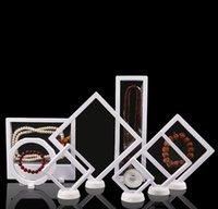 ingrosso scatole a membrana-Accessori per membrane in PET Collana di gioielli Ciondolo Confezione Scatola di visualizzazione 3D Bague Gioielli Presentazione Supporto per stand Rack 9 * 23cm