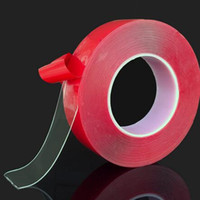 Wholesale red tape double sided for sale - Group buy Red Transparent Silicone Double Sided Tape Sticker For Car High Strength No Traces Adhesive Sticker Living Goods