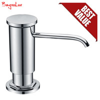 Wholesale pp foam for sale - Group buy Bagnolux High Quality Replacement Chrome Sink Soap Dispenser with Lead Free Countertop Liquid Dish Pump PP Bottle ABS Sprayer SH190919