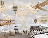 papel de parede de borboleta para desenhos de paredes venda por atacado-Papel de parede personalizado 3d mural dos desenhos animados fundo papéis de parede decoração de casa papel de parede papel de parede 3d