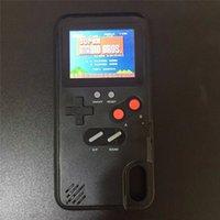 cajas de teléfono para niños al por mayor-Pantalla en color 36 Caja del teléfono del juego clásico para iPhone X XS Max XR 6 7 8 Plus Consola Game boy Soft TPU Funda de silicona IPXM9