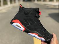 corte infravermelho venda por atacado-2019 Novo 6 Preto Vermelho infravermelho 3 M VI Bred homens tênis de basquete esportes 6 s tênis de moda ao ar livre formadores tênis com tamanho de caixa 8-13