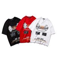 Wholesale pure white t shirt online - Summer Short T Shirt Men Brand Clothing Letter printing Hip Hop Quality Pure Cotton Male T shirt