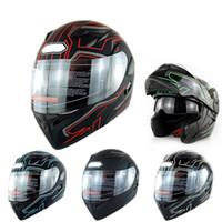 Wholesale dual helmets resale online - 1pc Motorbike Helmet Full Face Cover Dual Visor for Racing Safe Accessories TD326