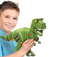 динозавр ручной работы оптовых-3d Сборка Динозавров Обучающие 3D Строительство Динозавров Повышение Разведки Игрушки Развивающие Игрушки ЕВА DIY Ручной Работы A708541