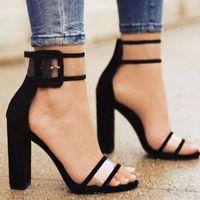 siyah beyaz dans elbiseleri toptan satış-Tasarımcı Elbise Ayakkabı 2019 Kadın Yaz T-sahne Moda Dans Yüksek Topuk Sandalet Seksi Stiletto Parti Düğün Beyaz Siyah 2258 W
