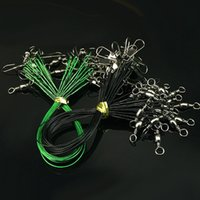 Wholesale trace lures resale online - 20Pcs Stainless Steel Wire Fishing Lure Trace Wire Leader Swivel Tackle Spinner Anti bite Steel Fishing Line Sea Tackle