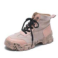 sutyen dişi kadın türleri toptan satış-Net kırmızı altı Küçük orijinal ayakkabı kadın Martin botları ayak bileği botlar kişilik harajuku tuval yüzeyi çalışma duk Yin aynı tip