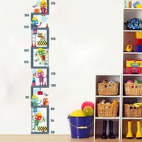 Wholesale measuring height wall stickers for sale - Group buy Cartoon Character Upstairs Height Measure Wall Sticker For Kids Children Room Decor Growth Chart Wall Art Boy s Room Decor