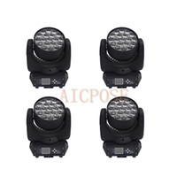 Wholesale stage lighting head 15w resale online - 4Pcs x15w Zoom Moving Head Light Wall Wash light With Circle Control Function w Stage Light