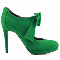 милые свадебные туфли оптовых-Европа стиль милые девушки обувь платформа высокие каблуки дамы Боути женщины насосы свадебное платье Женская обувь размер США