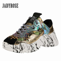 lianes zapatos achat en gros de-Jady Rose Patchwork Femmes Baskets À Lacets Plateforme Chaussures Casual Chaussures Plates Femme Espadrilles Baskets Zapatos Mujer Creepers