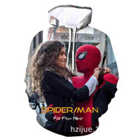 Wholesale boys spider man hoodies for sale - Group buy Far From Home Spider Printed Mens Designer Hoodies Autumn Marvel Boys Loose Long Hooded Sweatshirts Couples Clothing