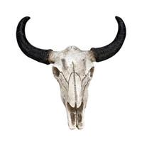 decoração de animais 3d venda por atacado-Resina Longhorn Cow Head Parede do crânio de suspensão Escultura animal Vida Selvagem Decor 3D Figurines Artesanato Horns para Home Decor Halloween