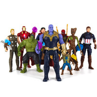 Wholesale new toy iron man for sale - Group buy 10 Style Avengers Endgame Action Figures toys New Avengers Thanos Iron Man Captain Marvel Hulk Spiderman model doll toy B