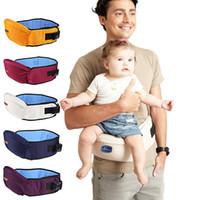 cinto de quadril do bebê venda por atacado-Transportadora Fezes Caminhantes Bebê Sling Segurar Cintura Mochila Hipseat Cinto Crianças Infantil Assento Quadril Q190529