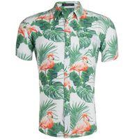 soie achat en gros de-Chemise de style masculin en soie de soie de jour de code d'ExplosionLarge Belle chemise d'impression d'homme de Code Hawaii