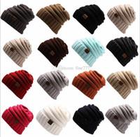 толстый сутулятся шапочку оптовых-Женская толстовка с капюшоном для девочек Skully Unisex Slouch Вязаная шапка для взрослых Вязаная шапка из шерстяной шапки на открытом воздухе Теплая шапка