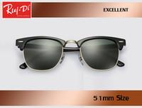 ingrosso occhiali da sole a specchio di fabbrica-All'ingrosso fabbrica nuovo classico Half Frame uv400 Occhiali da sole Uomo Donna designer di marca Mirrored 3016 Club occhiali da sole Master gafas 51mm dimensioni