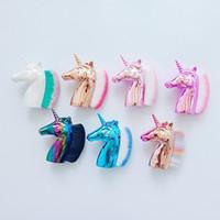 ingrosso spazzola cosmetica-Spazzola di trucco del cavallo del Rainbow Spazzola della polvere di Blush Mini pennelli protettivi della polvere di Blush di modo Strumenti di bellezza cosmetici HHA306