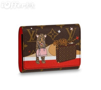 Wholesale felt credit card holder for sale - M63326 Women Canvas Zip Coin Victorine Wallet Purse Bag Clutch Handbag Purse Bag Brown Wallet Purse Belt Bags Mini Bags Clutches Exotics