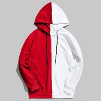 erkekler patchwork ceket toptan satış-Yeni Tasarımcı Erkek Man Boys Için Patchwork Hoodie Tişörtü Erkek Kazak Streetwear Sonbahar Sonbahar için Ince Ceket Kazak 81204