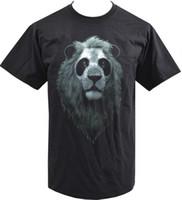 Wholesale shirt samples online - Sample Sale MENS T SHIRT PANDA LION CUTE FUNNY PHOTOGRAPH FASHION TREND M funny Cotton t shirt Short Sleeve Plus Size t shirt