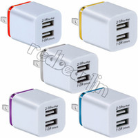 Wholesale 5v 1a usb travel ac adapter for sale – best Dual usb Wall charger For Iphone x Samsung S9 S10 S8 USB Wall Charger V A A Metal Travel Adapter US EU plug AC Power Adapter