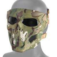 Tactical Full Face Mask Outdoor tactical Gear Hunting Aorsoft Paintball Shooting Camouflage Combat CS Halloween Party Mask