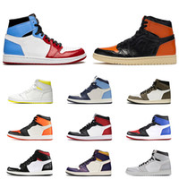 Wholesale first shoes resale online - Fearless s men women basketball shoes Shattered Backboard Obsidian UNC First Class Flight TURBO GREEN mens trainer sports sneakers