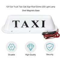 Wholesale car roof signs resale online - New Universal V Car Truck Taxi Cab Sign Roof Dome LED Light Lamp Shell Magnetic Base with Cigarette Lighter Socket