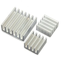 малиновый pi кулер оптовых-3PCS/set One Set Aluminum Heatsink Cooler Adhesive Kit Microcomputer Parts for Cooling Raspberry Pi Set Accessories