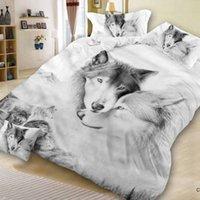 gato adulto set venda por atacado-30 Novo Design 3D Cat Animais Impressão Bedclothes Bedding Decor Inverno Confortável Conjuntos de Cama housse de couette