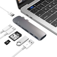 lector de china al por mayor-Adaptador multipuerto de tipo C Hub USB C con 4K HDMI para MacBook Pro 2018 2016 2016 SD / Micro Card Reader