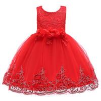 pettiskirt elbiseler yılbaşı toptan satış-2019 Noel etek kız elbise Avrupa ve Amerikan çocuk etek Kar Beyaz Prenses etek pettiskirt çocuklar elbise D1