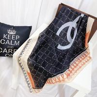 poncho de xaile em xadrez venda por atacado-Topfashion designer lenço de seda da marca lenço das senhoras macio super longo cachecol xale moda primavera impressa lenços.