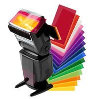 cámara flash yongnuo al por mayor-Universal 12Pcs / lot Flash Speedlite Color Filtros de gel para Canon Nikon Sony Yongnuo DSLR Camera