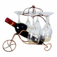 ingrosso appendiabiti per bicchieri di vino-Creativo Delicato Bottiglia di vino rosso Occhiali Holder appeso a testa in giù Coppa Calici Display Rack Fashion Metal Home Bar Wine Holder