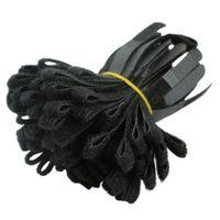 rangement de câble achat en gros de-1000pcs noir câble cordon cravate sangle crochet et boucle collant adossé bande enrouleur fil organisateur porte-écouteurs cordon protecteur Protetor