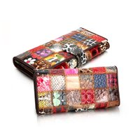 Wholesale floral clip wallet for sale - Group buy Prettyzy Genuine Leather Women Wallets Patchwork Hasp Coin Pocket Purse Female Clutch Bag Money Clip Slim Carteira Cartera Mujer J190628