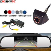 ingrosso sensori di inversione neri-Koorinwoo Allroad Automobiles Sensori di parcheggio per auto Monitor Specchietto retrovisore Sistema parktronic Brumper Metal detector Reverse Black
