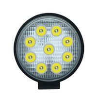 su geçirmez led atv toptan satış-27 W 2700LM IP68 Su Geçirmez Yuvarlak LED Şerit İş Işık Bar Tamir Off-road Işık Çatı Şerit Lambası Araç ATV SUV